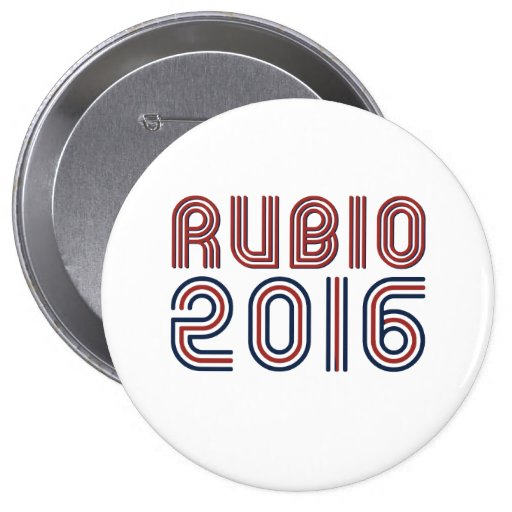 RUBIO 2016 LINE RETRO -.png Pinback Button