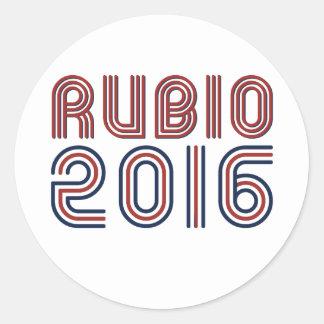 RUBIO 2016 LINE RETRO -.png Round Stickers