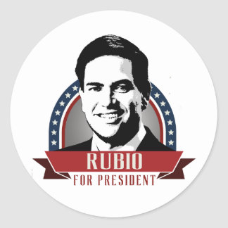 RUBIO 2016 SPANGLE -.png Round Sticker