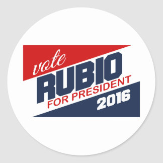 RUBIO 2016 SUPPORTER -.png Round Stickers