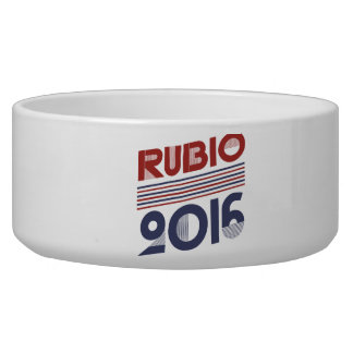 RUBIO 2016 VINTAGE STYLE -.png Dog Bowls