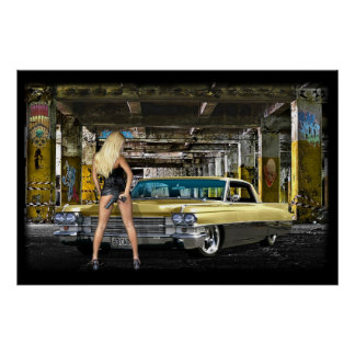 rubio, arma, poster de Cadillac