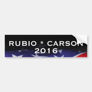 RUBIO CARSON 2016 Campaign Bumper Sticker