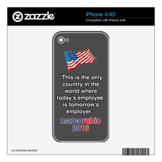 RUBIO EMPLOYER iPhone 4 DECALS