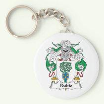 Rubio Family Crest Keychain