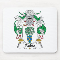 Rubio Family Crest Mousepad