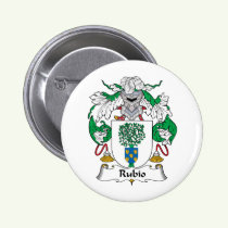 Rubio Family Crest Button