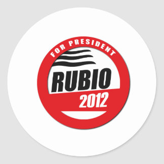 RUBIO FOR PRESIDENT BUTTON CLASSIC ROUND STICKER