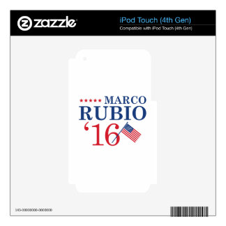 Rubio For President Decals For iPod Touch 4G