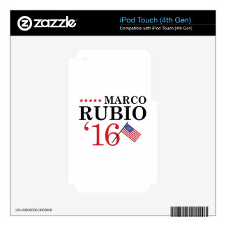 Rubio For President iPod Touch 4G Decals