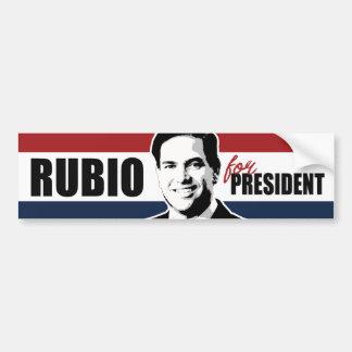Rubio for President Red White and Blue Bumper -.pn Bumper Sticker