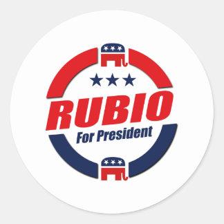 RUBIO FOR PRESIDENT (Republican) Classic Round Sticker
