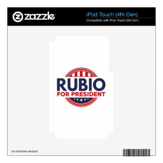 Rubio For President Skins For iPod Touch 4G