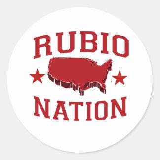 RUBIO NATION CLASSIC ROUND STICKER