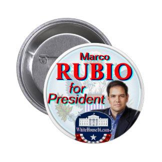 Rubio para el botón del presidente gran sello pin redondo de 2 pulgadas