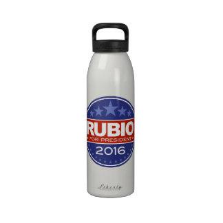 Rubio para el presidente 2016 botella de agua reutilizable