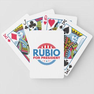 Rubio para el presidente baraja cartas de poker