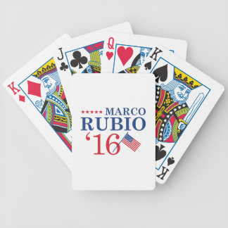 Rubio para el presidente baraja de cartas