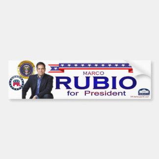 Rubio para el presidente pegatina para el parachoq pegatina de parachoque
