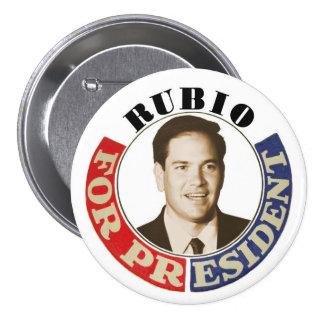 Rubio para el presidente pin redondo 7 cm