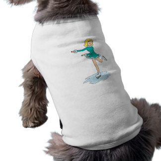 rubio patinaje artístico el chica del dibujo anima playera sin mangas para perro