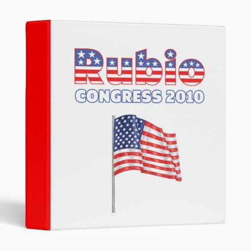 Rubio Patriotic American Flag 2010 Elections Binder