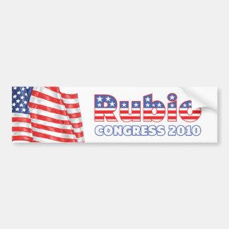 Rubio Patriotic American Flag 2010 Elections Car Bumper Sticker