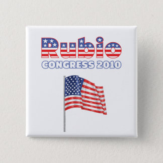 Rubio Patriotic American Flag 2010 Elections Pinback Button