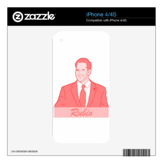 Rubio Decal For iPhone 4S