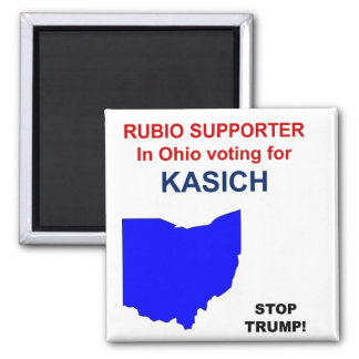 Rubio Supporter for Kasich in Ohio Magnet