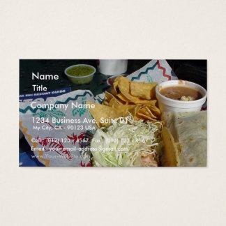 Rubios Fish Taco Food Mexican Salsa Business Card
