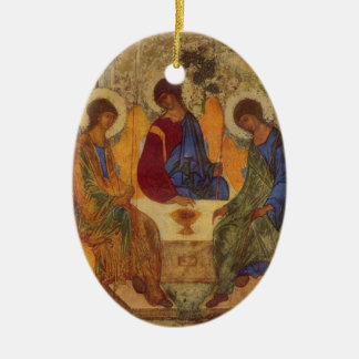 Rublev Trinity at the Table Ceramic Ornament
