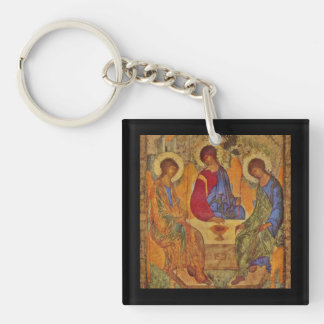Rublev Trinity at the Table Keychain
