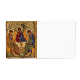 Rublev Trinity at the Table Label