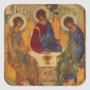 Rublev Trinity at the Table Square Sticker