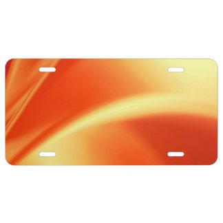 Rubor del naranja placa de matrícula