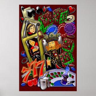 Rubor real del corazón arte del casino impresiones