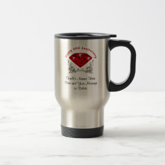 Ruby 40th Anniversary Mugs 3 Lines of YOUR TEXT