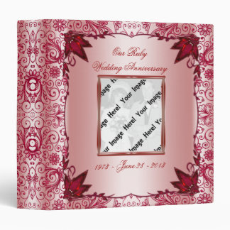 "Ruby 40th Wedding Anniversary 1.5"" Binder"