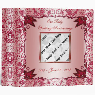 "Ruby 40th Wedding Anniversary 2"" Binder"