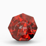 """RUBY 40th Wedding Anniversary 2 RED HEART Silver Acrylic Award<br><div class=""""desc"""">Stylish Ruby 40th wedding anniversary gift for parents, family or friends. You can edit using the customize or personalize tab. ____________________________________________________________________________ 1. For assistance, custom design or matching items (view the collection attached ) contact Designer LeahG via the contact tab below. ____________________________________________________________________________ 2. For updates on the latest trending gift...</div>"""