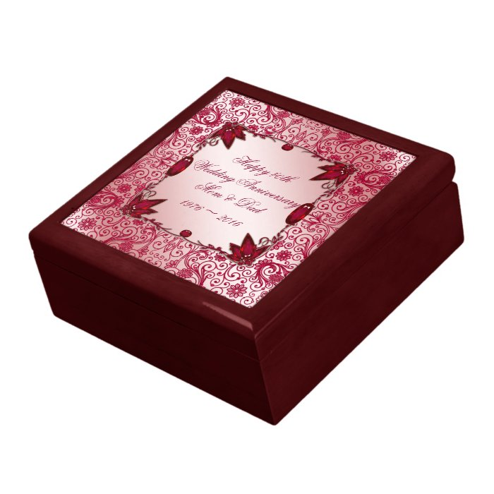 Ruby 40th Wedding Anniversary Gift Box Zazzle