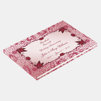Ruby 40th Wedding Anniversary Guestbook
