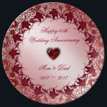 "Ruby 40th Wedding Anniversary Porcelain Plate<br><div class=""desc"">A Digitalbcon Images Design featuring a ruby red color theme with a variety of custom images, shapes, patterns, styles and fonts in this one-of-a-kind &quot;Ruby 40th Wedding Anniversary&quot; Porcelain Plate. This elegant and attractive design comes complete with customizable text lettering and additional images which can be deleted to make this...</div>"