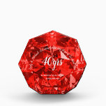 "RUBY 40th Wedding Anniversary RED CRYSTAL look Acrylic Award<br><div class=""desc"">Stylish Ruby 40th wedding anniversary gift for parents, family or friends. You can edit using the customize or personalize tab. ____________________________________________________________________________ 1. For assistance, custom design or matching items (view the collection attached ) contact Designer LeahG via the contact tab below. ____________________________________________________________________________ 2. For updates on the latest trending gift...</div>"