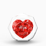 """RUBY 40th Wedding Anniversary RED HEART Silver Award<br><div class=""""desc"""">Stylish Ruby 40th wedding anniversary gift for parents, family or friends. You can edit using the customize or personalize tab. ____________________________________________________________________________ 1. For assistance, custom design or matching items (view the collection attached ) contact Designer LeahG via the contact tab below. ____________________________________________________________________________ 2. For updates on the latest trending gift...</div>"""