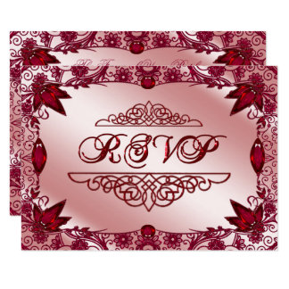 Ruby 40th Wedding Anniversary RSVP Card