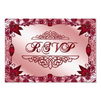 Ruby 40th Wedding Anniversary RSVP Card