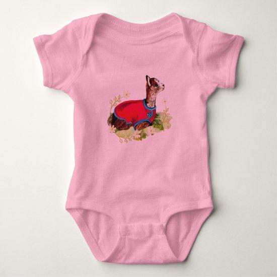 Ruby Alpaca Baby Bodysuit