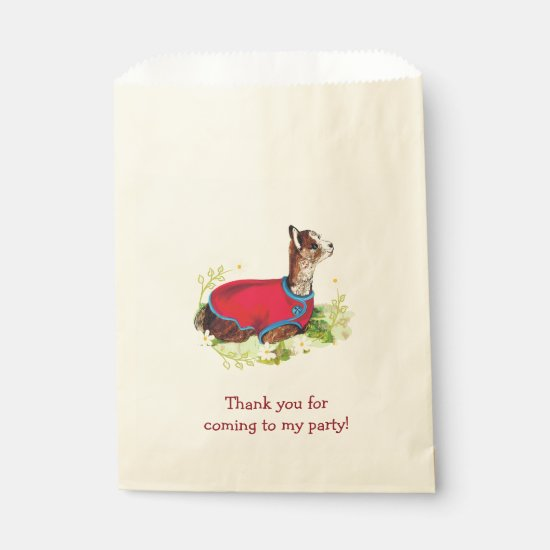 Ruby Alpaca Birthday Party Favor Bags